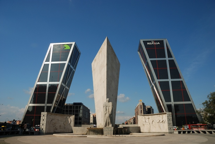Gate of Europe, Madrid, Spain. #gateofeurope
