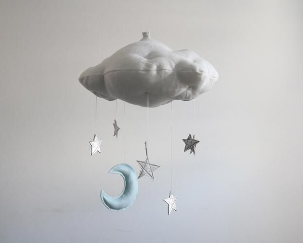 Luxe Star + Moon Cloud Mobile