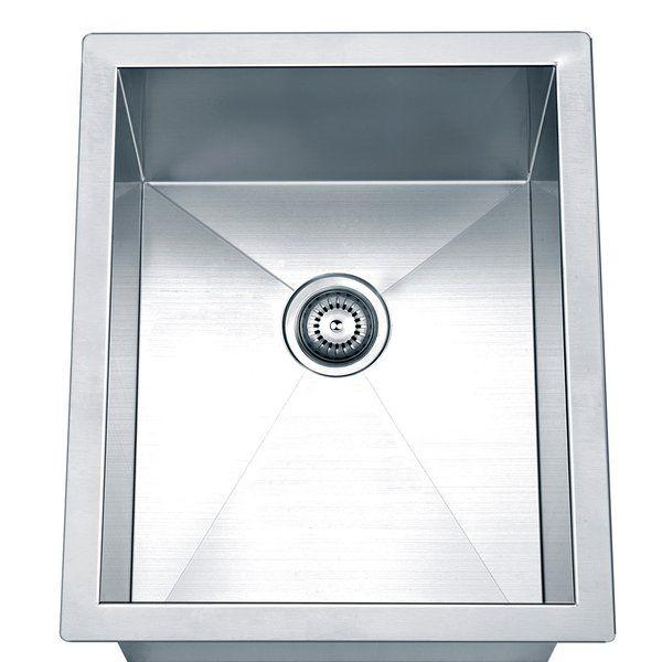 17 L X 14 W Undermount Kitchen Sink Single Bowl Kitchen Sink Sink Bar Sink