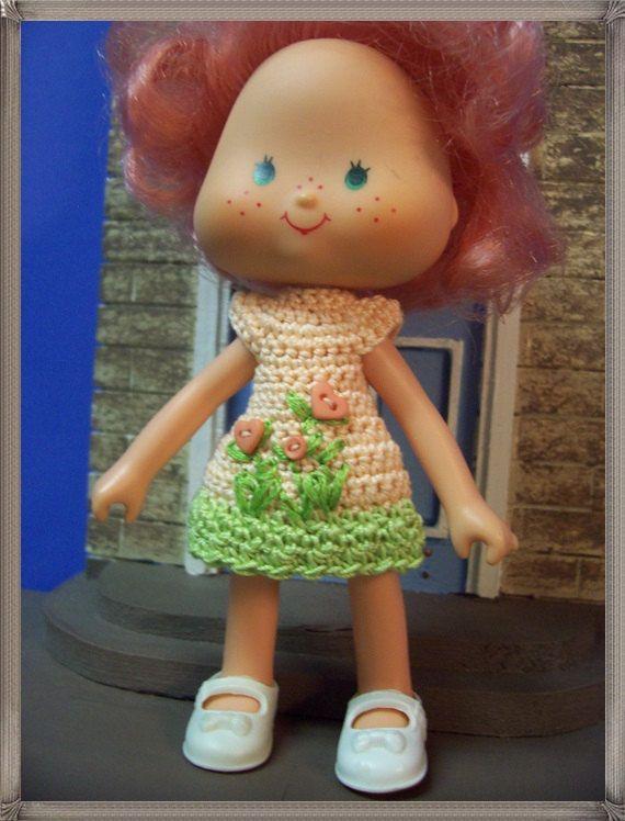 Peach Flowerbed dress for Strawberry Shortcake/Peach Blush dolls