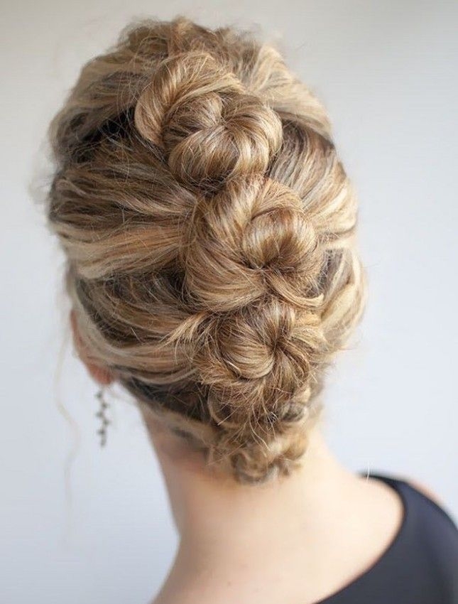 Lots of little buns make for a super pretty style.
