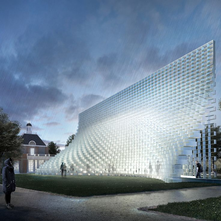 BIG's recently unveiled design for the 2016 Serpentine Gallery Pavilion.