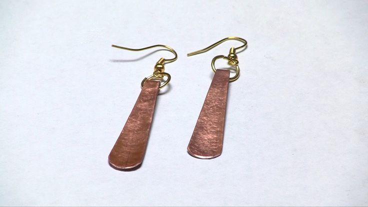 Copper Earrings Simplified  - Orecchini di rame semplicissimi