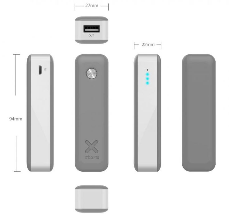 Xtorm Move 2600 lekki i wydajny powerbank o pojemności 2600mAh / Xtorm Move 2600 is light and small powerbank with capacity of 2600mAh PLN109.99 / $29