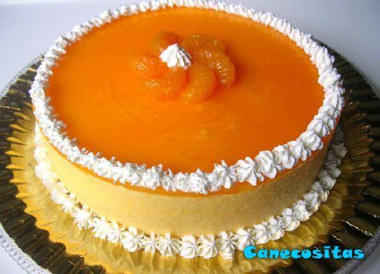 tarta semifrio de mandarinas  canecositas