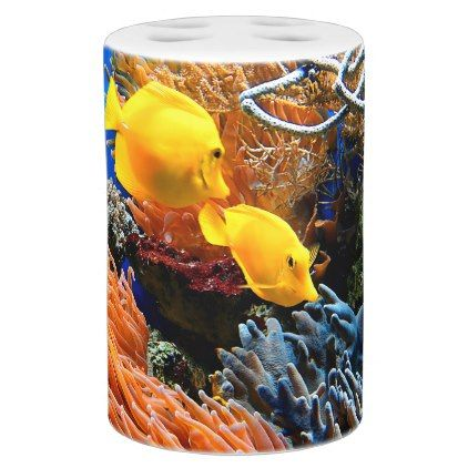 Tropical Undersea Coral Soap Dispenser And Toothbrush Holder - photos gifts image diy customize gift idea