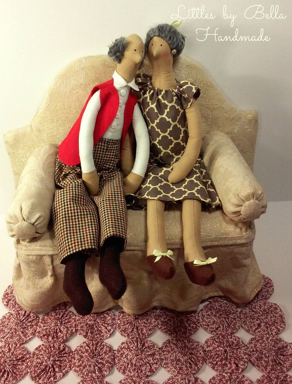 Grandmother doll tilda style doll grandfather от littlesbyBella ☆