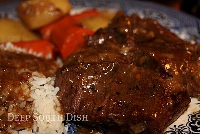 Deep South Dish: Sunday Suppers: Oven Braised Pot Roast with Vegetables
