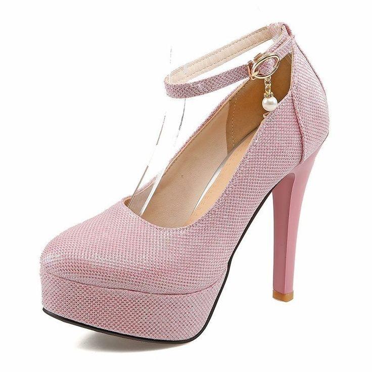<b>New</b> Platform Ultra <b>High Heels Women</b> Pumps Fashion Sexy Thin ...