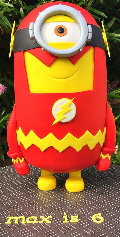 A Minion Becomes The Flash Cake