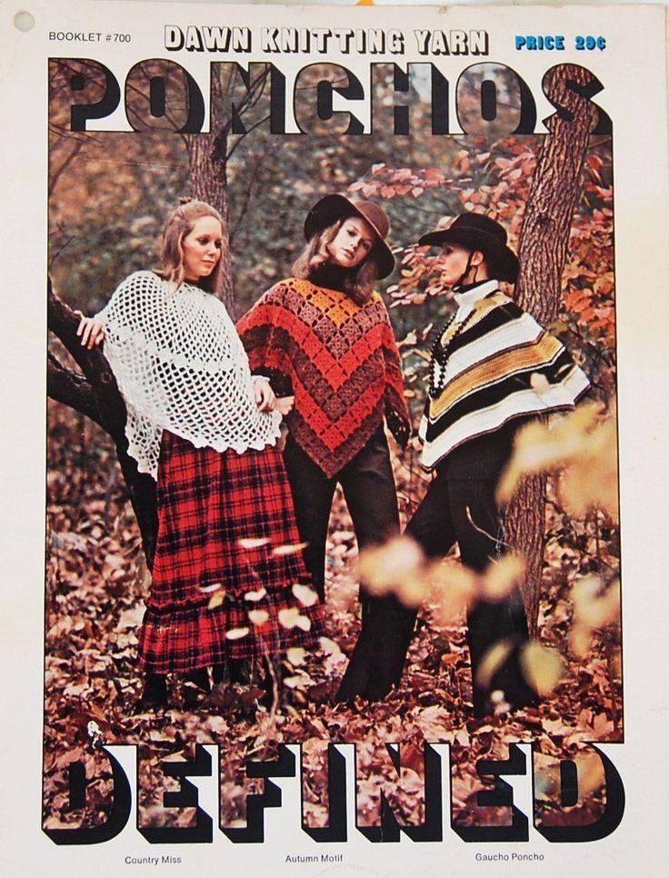 #American Thread #Ponchos Vintage Crochet  https://www.bonanza.com/listings/100850913