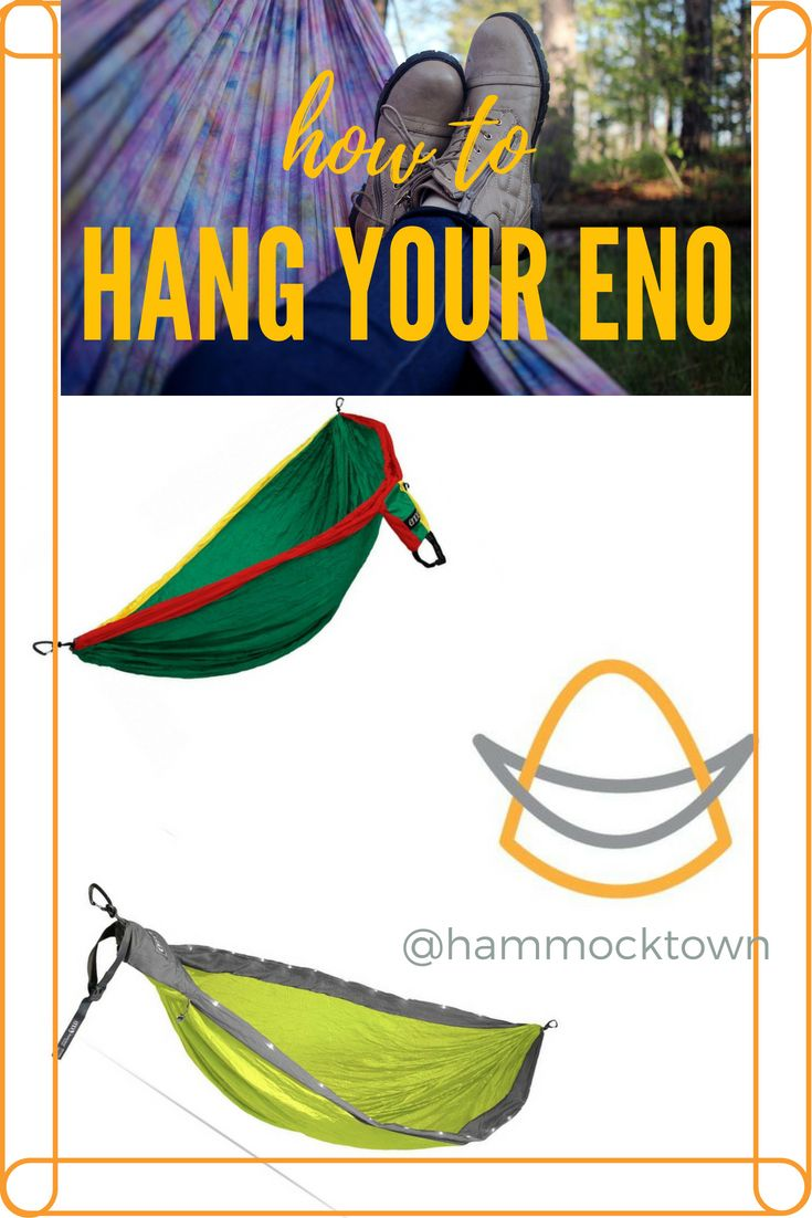 We Got Your Back ;) In This Video Guide Weu0027ll Cover How To Hang Up Your ENO  Hammock ...