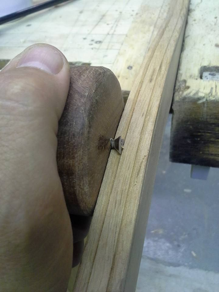 """So this is a """"poor man's"""" beading tool. It's basicaly an old style slotted wood…"""