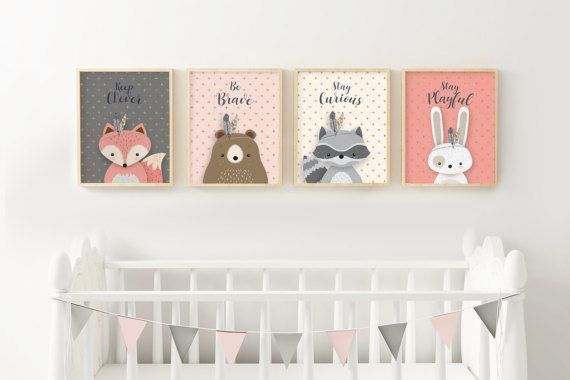Aim for the moon, Woodlands Nursery, Giclee print, Fox print, Woodland Nursery Fox Decor, Baby Fox Print Decor, Baby Girl Nursery, Pink gray. ❥ ❥ ❥ ❥❤ Look for CURRENT SPECIAL OFFERS at the Shop Announcement - like 30% discount on 3 or more prints and other great deals! ❤ ❥ ❥ ❥ ❥ ❥ Be