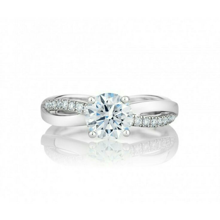 De Beers Platinum My First De Beers Infinity solitaire diamond ring - Unavailable eXwad