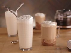 Get this all-star, easy-to-follow Cold Hazelnut Chocolate-Toffee Latte recipe from Bobby Flay