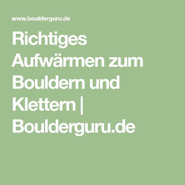 Richtiges Aufwärmen zum Bouldern und Klettern | Boulderguru.de