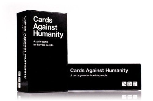 Keep laughing throughout your marriage by registering on Amazon for the irreverent game, Cards Against Humanity Cards.