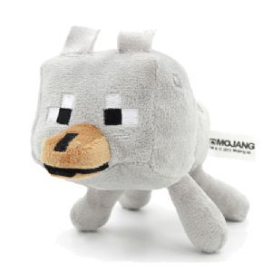 Minecraft Wolf Soft Plush Toy