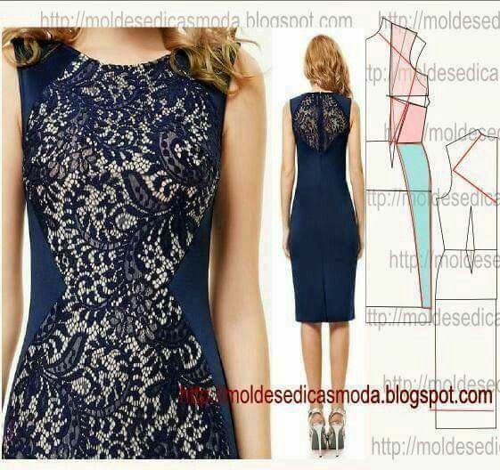 Lace n fabric dress