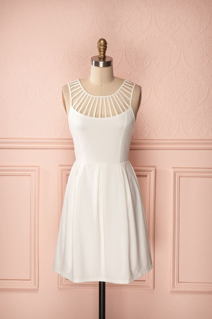 Mayerly Light - Ivory dress with detailed straps