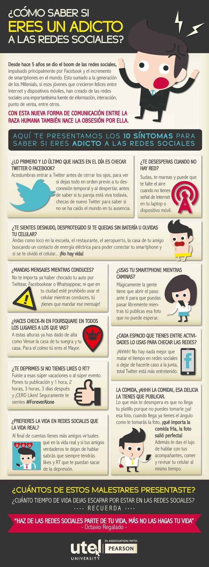 ¿Eres adicto a las Redes Sociales? #infografia