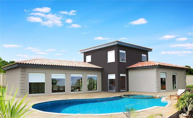 17 mejores im genes sobre casas de tejado inclinado - Donacasa bungalows ...