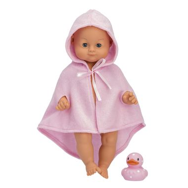 Our popular bath time doll Anna loves water! Take off her soft pink dressing gown to bathe your lovely baby doll and don't forget her sweet little rubber duck. Skrallan Anna doll is water resistant and closes her eyes when you lay her down. Anna is 36 cm long, and all clothes and accessories for Skrallan Lillan Doll are suitable for Anna as well