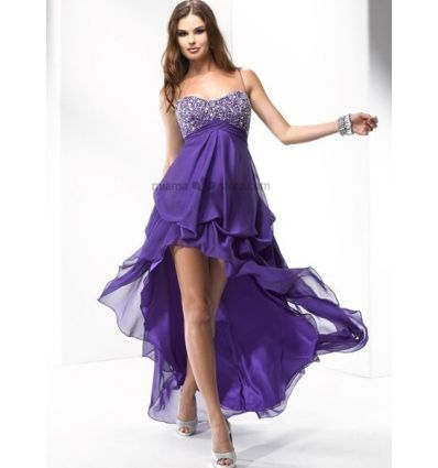 CLEO - Prom dresses Cheap Princess Asymmetrical Chiffon Beaded Queen anne/Sweethear Occasion dress