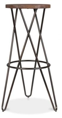 Hairpin High Stool With A Cross Frame 1