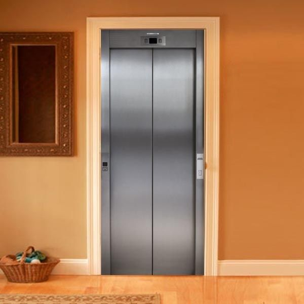 exterior door stickers. 3-d photo film for doors -- elevator trompe l\u0027oeil exterior door stickers a