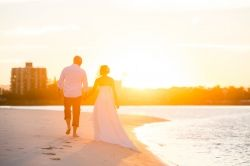 Walk off into the sunset with an elopement ceremony  in Caloundra www.caloundraweddingcollective.com.au