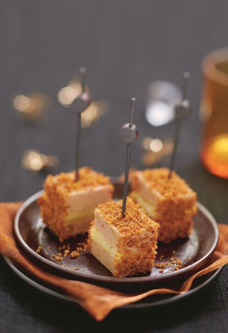 Lolly's van foie gras met appel en peperkoek