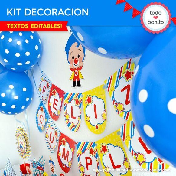Plim Plim: decoración de fiesta para imprimir
