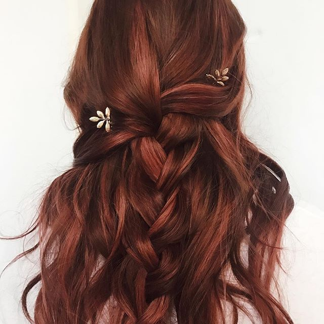 fancy braided hairstyles wedding hairstyle red auburn hair