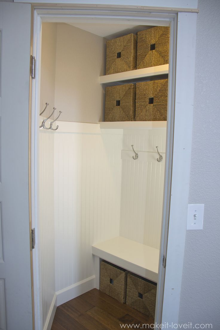 Turn A Coat Closet Into The Perfect Mudroom For The