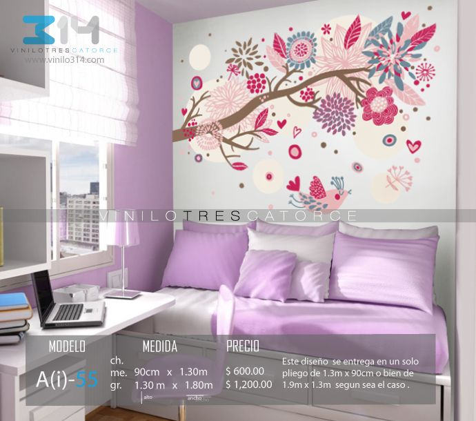 Vinilos decorativos rboles infantiles sticker decorativo for Stickers decorativos de pared