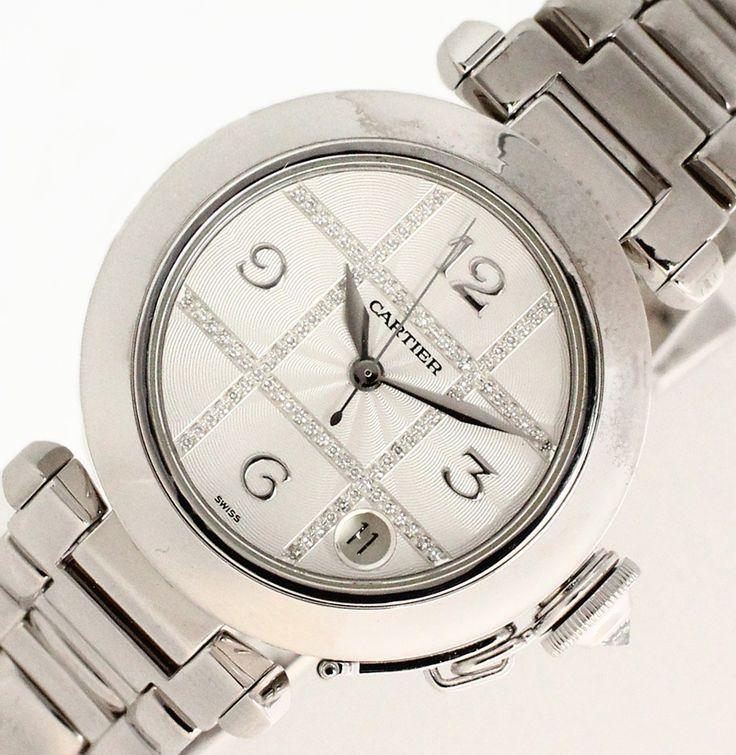 【 #Cartier #カルティエ #パシャ35mm グリッドダイヤ文字盤 K18WG ホワイトゴールド オートマ メンズ時計】モロッコの #パシャ (太守)エル・ジャウイ公が、水泳用の防水時計をオーダーし、これを機に85年に登場したのがパシャです。この商品は #ホワイトゴールド 無垢でずっしりと存在感があり、文字盤にグリッド状に #ダイヤ の入った高級感のある一本です。画像をクリックして頂きますと、詳細ページをご覧頂けます。 #セブンマルイ質店 TEL06-6314-1005