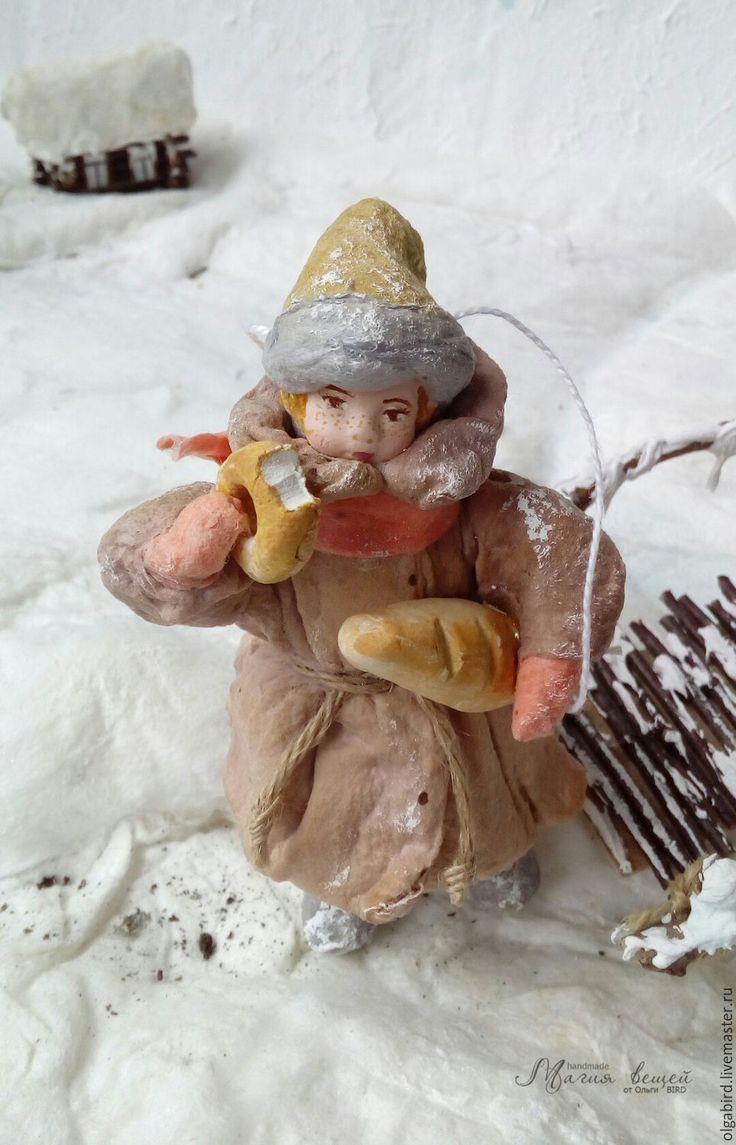 Купить резерв Ватная елочная игрушка АНДРЕЙКА - ватная игрушка, ватная елочная…
