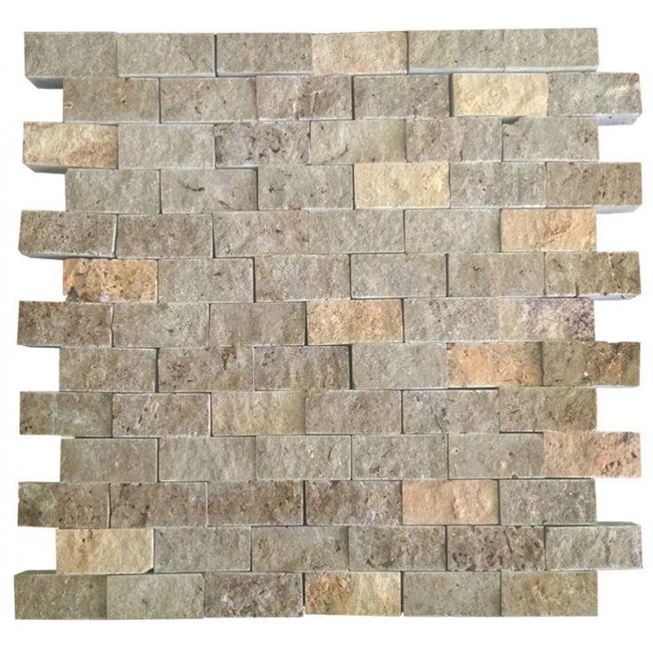 Sarı Noche Mix 2.5X5 Fileli Patlatma Taş  www.tasdekorcum.com #dekor #patlatmatas #mozaik #dogaltas#naturalstonemosaic #naturalstone  Natural Stone Mosaic Natural Stone Wall Natural Stone Mosaic Subway Wall Tile Fileli Patlatma Taş Doğal Taş Patlatma Mozaik