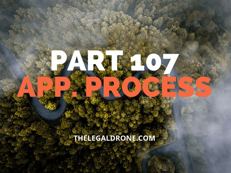 The Part 107 application process to get your commercial