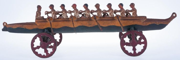 U. S. Hardware Nine-man Rowing Scull Pull Toy