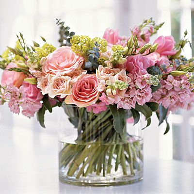 Fresh roses, peonies, and hyacinths  look great together in this full arrangement from Southern Living #floral #allaboutflorals #flowers #floralstory
