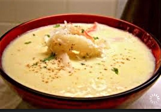 Louisiana crab, shrimp and corn bisque. This is Marcelle Bienvenu's recipe.