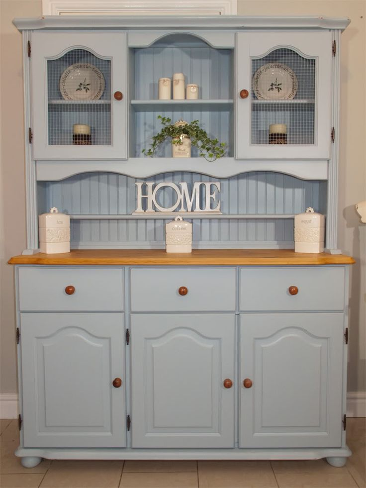 Blue Farmhouse / Welsh Dresser www.chicmouldings.com