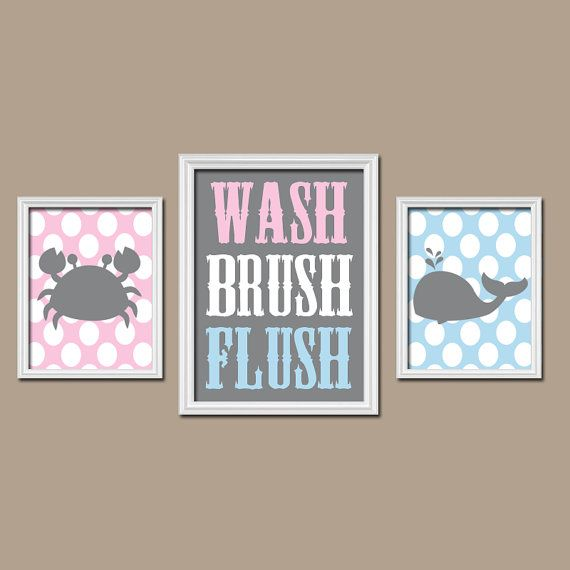 Bathroom Wall Art Boy Girl Brother Sister Child By TRMdesign, $35.00 Part 76