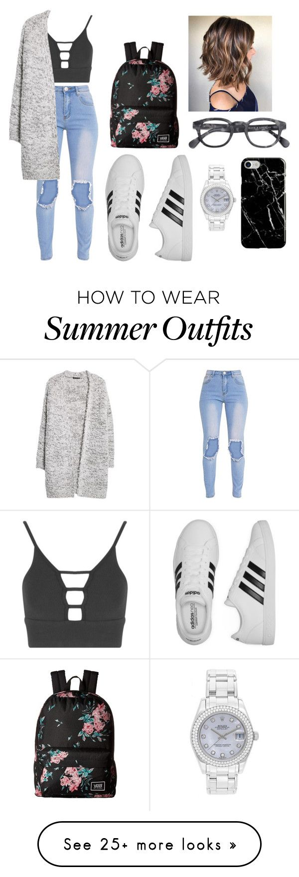 """""""this outfit pretty much suit meh personality"""" by macapugay-mariel on Polyvore featuring Topshop, MANGO, adidas, Vans, Rolex and Recover"""