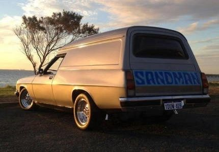 ◆ Visit MACHINE Shop Café... ◆ ~ Aussie Custom Cars & Bikes ~ 1977 HZ Holden Sandman Van