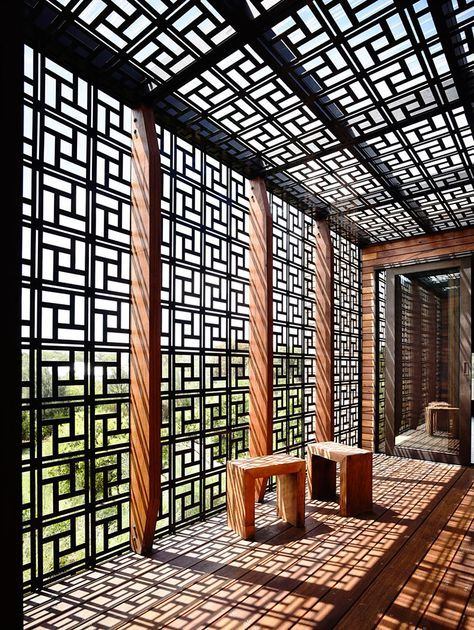 pergola Laser-cut metal wooden shading - Google Search