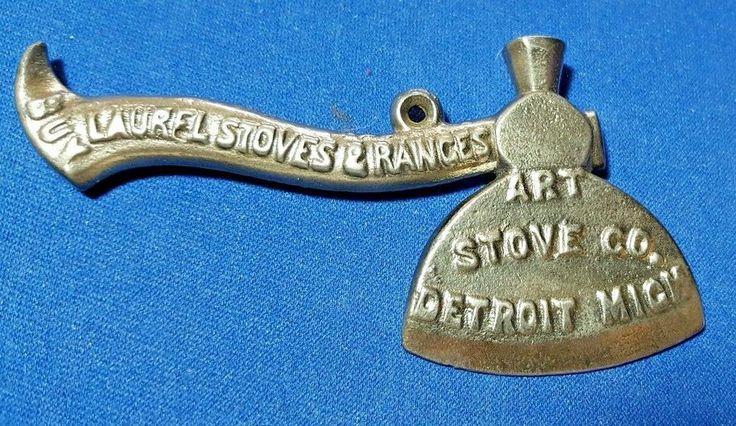 Org.Antique Advertising 1901 Art Stove Co.Carrie Nations Prohibition Hatchet, Ax #LaurelStoveRanges